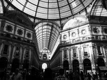 Galleria Vittorio Emanuele II, Milan. Italy. Galleria Vittorio Emanuele II is a touristic place, with luxuries shopping center and restaurant Royalty Free Stock Photo