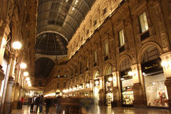 Galleria Vittorio Emanuele II in Milan at night Stock Photo