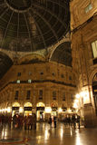 Galleria Vittorio Emanuele II in Milan at night Royalty Free Stock Photography