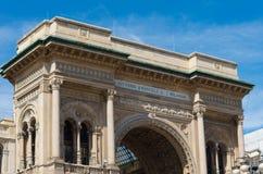Galleria Vittorio Emanuele II in Milan. Top of the famous Galleria Vittorio Emanuele II in Milan Stock Images