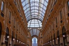 Galleria Vittorio Emanuele II in Milan. Town House Galleria name by Vittorio Emanuele II in Milan Stock Photography
