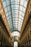 Galleria Vittorio Emanuele II Milano - glass roof royalty free stock photography