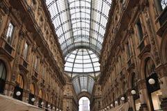 Galleria Vittorio Emanuele II, Milano, Italia Immagine Stock Libera da Diritti