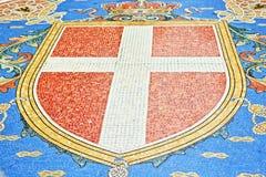 Galleria Vittorio Emanuele II mooie mozaïeken Milan Italy royalty-vrije stock afbeelding