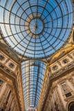 Galleria Vittorio Emanuele II robi zakupy arkada, Mediolan, Włochy Obrazy Royalty Free