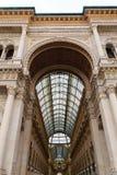 Galleria Vittorio Emanuele II view. Famous Italian landmark. Royalty Free Stock Photo