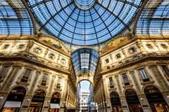 Galleria Vittorio Emanuele II w Mediolan, Włochy Zdjęcie Stock