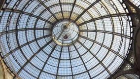 Galleria Vittorio Emanuele interior stock footage