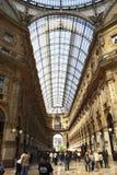 Galleria Vittorio Emanuele, Milaan, Italië Stock Afbeelding
