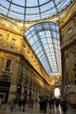 Galleria Vittorio Emanuele à Milan, Italie Images libres de droits