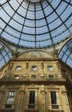 Galleria Vittorio Emanuele, Milan, Italy. Detail of the Galleria Vittorio Emanuele in Milan, one of the city's worldly-renewed shopping areas Stock Photos
