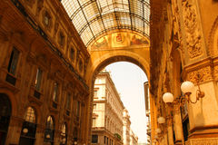 Galleria Vittorio Emanuele in Milano Stock Photos