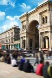Galleria Vittorio Emanuele Milano Expo Stock Photo