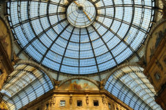 Galleria Vittorio Emanuele in Milano, Italy Royalty Free Stock Photography