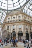 Galleria Vittorio Emanuele. People walking  in Galleria Vittorio Emanuele in Milan, Italy Royalty Free Stock Image