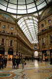 Galleria Vittorio Emanuele in a rainy day Royalty Free Stock Images