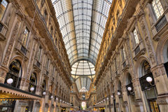 Galleria Vittorio Emanuele shopping Center, Milan, Stock Image