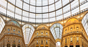Galleria Vittorio Emanuele shopping Center, Milan, Stock Photo