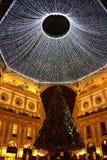 Galleria Vittorio Emanuele - Swarovski tree Stock Photos