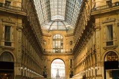 Galleria Vittorio Emanuele wnętrze fotografia stock
