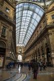 Galleria Vittorio Emanuelle i Milan Royaltyfri Fotografi