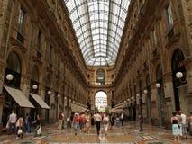 Galleria Vittorio Emanuelle in Milaan stock afbeeldingen