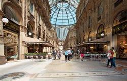 Galleria Vittorio Emanuelle in Milaan Stock Foto's