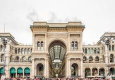 Galleria Vittorio Emmanuel i Milan, Italien Royaltyfria Bilder