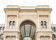 Galleria Vittorio Emmanuel i Milan, Italien Arkivbild