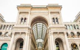 Galleria Vittorio Emmanuel i Milan, Italien Royaltyfri Fotografi