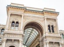 Galleria Vittorio Emmanuel i Milan, Italien Royaltyfri Foto