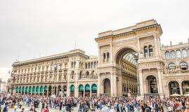Galleria Vittorio Emmanuel i Milan, Italien Royaltyfri Bild