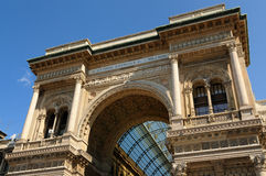 Galleria Vittorio Manuel en Milano, Italia Imagen de archivo libre de regalías