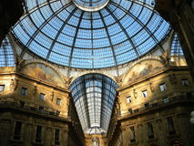 Galleria Vittorio Manuel en segundo lugar Imagenes de archivo