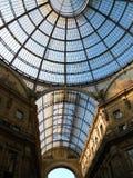 Galleria Vittorio Manuel en segundo lugar Imagen de archivo libre de regalías