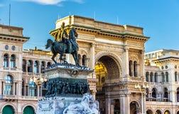 Galleria Vittorio Manuel II en Milano Imágenes de archivo libres de regalías