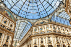 Galleria Vittorio Manuel II en Milano Foto de archivo libre de regalías