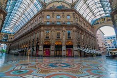 Galleria Vittorio Manuel II, Milano, Italia Fotografía de archivo libre de regalías