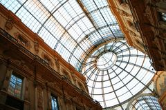 Galleria Vittorio in Milan Stock Photos