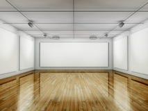 Galleria vuota, Corridoio con i blocchi per grafici Fotografia Stock