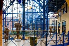 Galleria w błękicie, arkady z sklepami Obraz Royalty Free