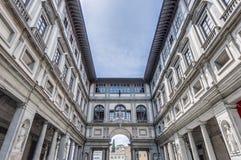 GalleriadegliUffizi museum i Florence, Italien fotografering för bildbyråer