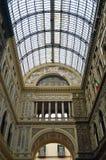 Galleriaen Umberto I Naples royaltyfri fotografi