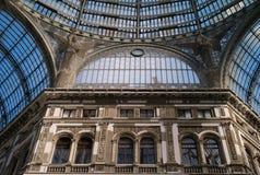 Galleriaen Umberto I i Naples, Italien arkivbild