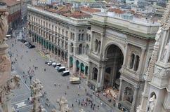 Galleria Vittorio Emanuele II - Milan Arkivfoton