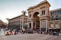 Galleriaen Vittorio Emanuele II, italiensk shoppinggalleria royaltyfria foton