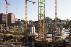 Galleriakonstruktionsplats i Bucharest Fotografering för Bildbyråer