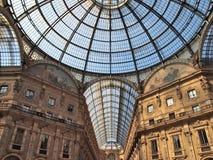 Galleriawinkelcomplex in Milaan Stock Foto