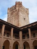 Gallerie della torre e del castello della La Mota o Castillo de La Mota Immagini Stock