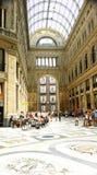 Gallerie interne panoramiche di Umberto I, Napoli Immagini Stock Libere da Diritti